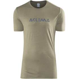 Aclima Lightwool Logo T-Shirt Men ranger green